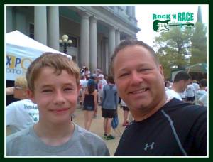 Marcus and Jim at the 5k Rock-N-Race 2014.